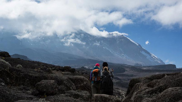 On approach ... the walk up. Photo: Wings of Kilimanjaro