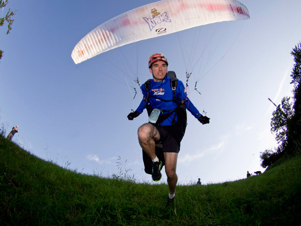Hanging in There ... Jon Chambers in the 2011 Red Bull X-Alps. Photo: Red Bull Content Pool