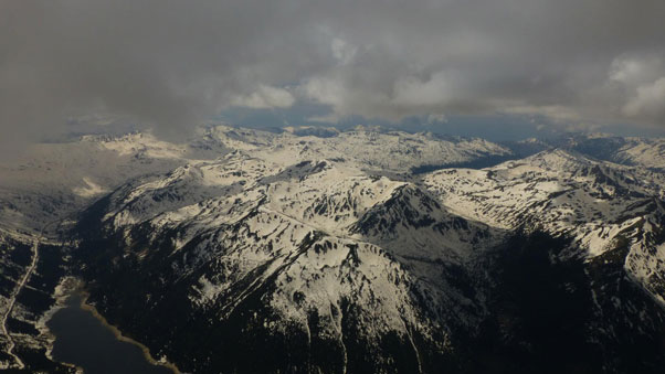 Deep inside the Rila Mountains on the triangle flight. Photo: Yassen Savov