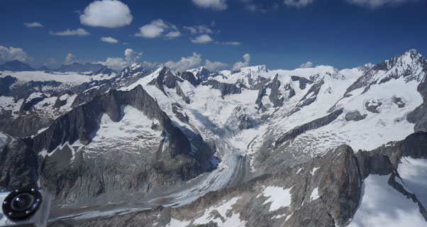 Perfect conditions during the six week traverse of the Alps. Photo: Aureliane Ghigi