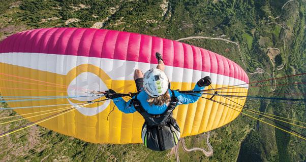 Felix Wolk touches down in Spain. Photo: Felix Wolk
