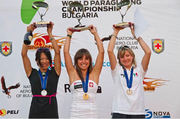 The Women's podium. Photo: Martin Scheel