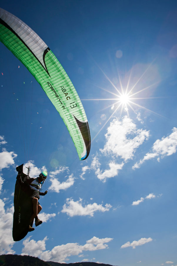 Jeremie Lager takes off at the Paragliding World Championships 2013 in Sopot, Bulgaria. Photo: Martin Scheel