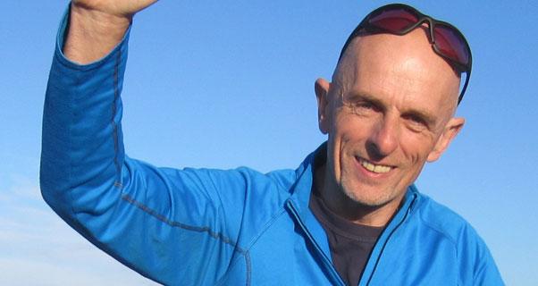 Paragliding coach Pat Dower. Photo: Ruth Churchill-Dower