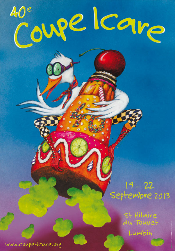 The Coupe Icare 2013 poster, featuring Monsieur Acro Duck