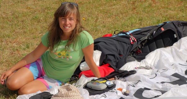 Klaudia Bulgakow, 2013 Women's Paragliding World Champion. Photo: Pawel Tomaszewski
