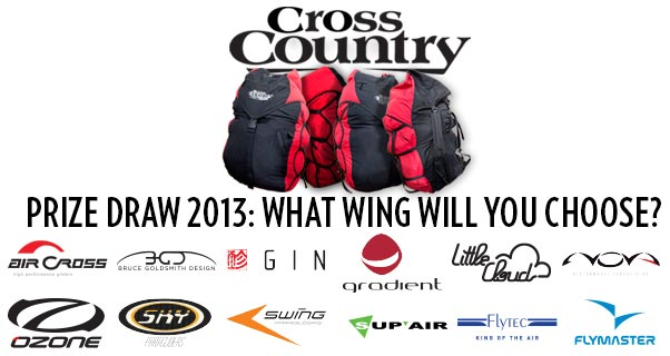 Win a paraglider in the Cross Country prize draw