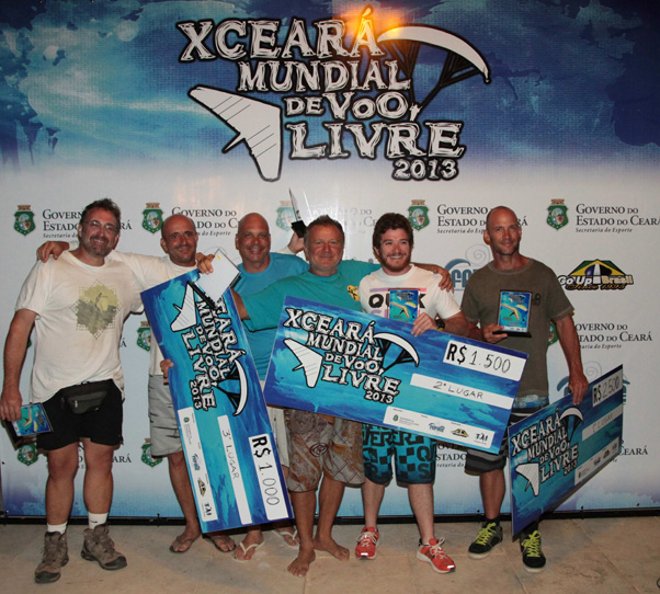 Winners of the hang gliding competition at the XCeara 2013