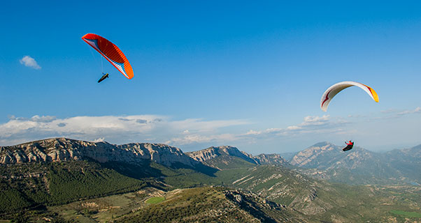 Fantastic flying in Ager. Photo: Jerome Maupoint