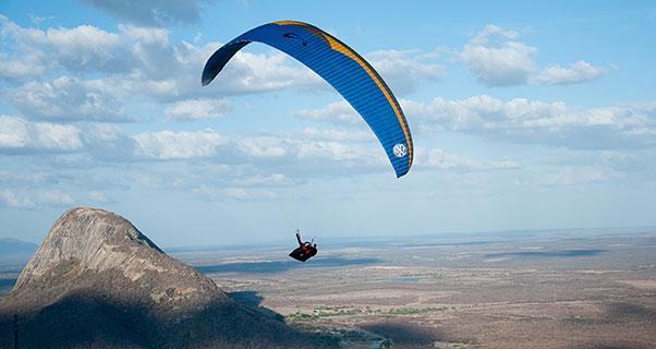 Paragliding in Quixada, Brazil