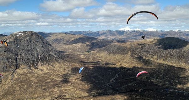 Paragliding in Glen Coe