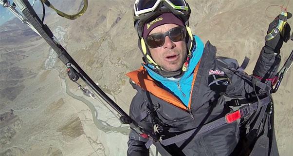 Olivier Laugero paragliding in Zanskar