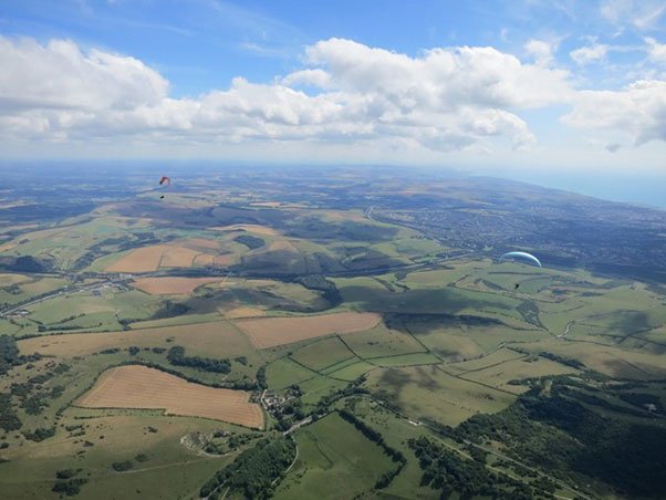 Flying the South Downs, England. Photo: Ed Bewley