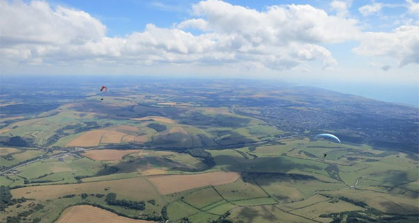 Flying in southern England. Photo: Ed Bewley