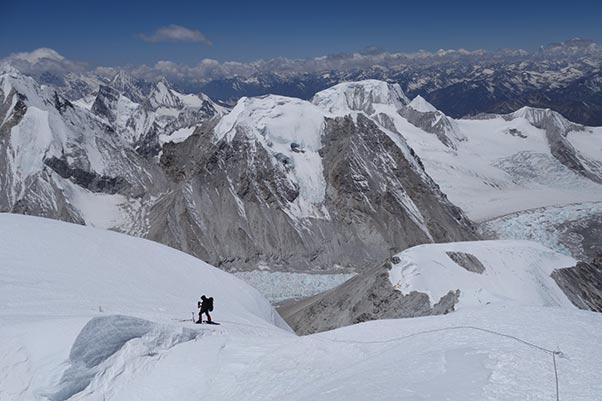 The view from Cho Oyu. Photo: Ken Hutt