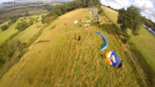 On launch at Frocester. Photo: FlyBubble Paragliding