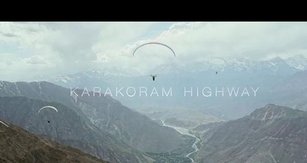 Karakoram Highway Paragliding Film