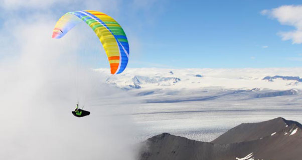 Paragliding in Iceland. Photo: Ant Green