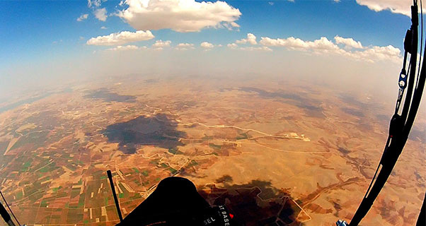 From 4,500m above eastern Turkey