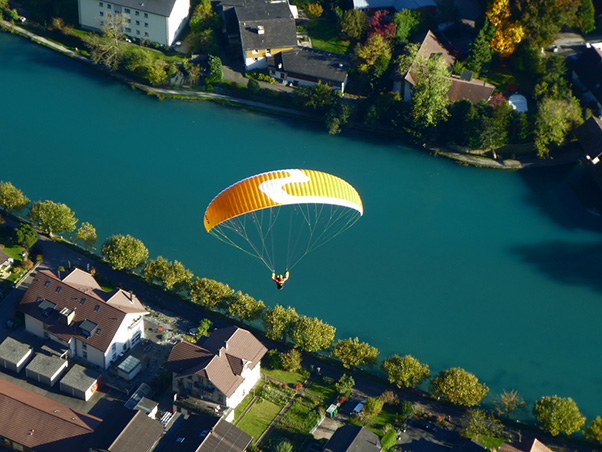 Bird's eye view of Interlaken. The first stop for the pair is Argentina