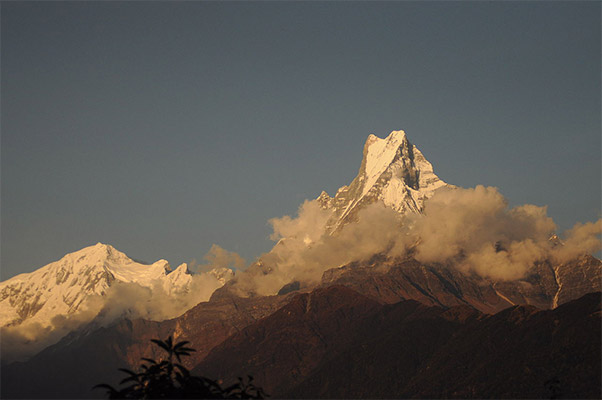 Machapuchare in Nepal. Photo: Sudan Shrestha