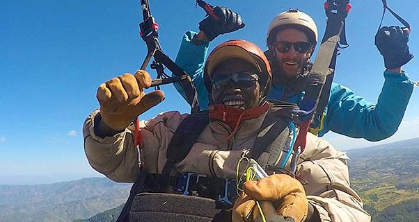 Hunter Marrian tandem world record Kenya