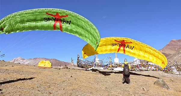 Paragliding in Keylong