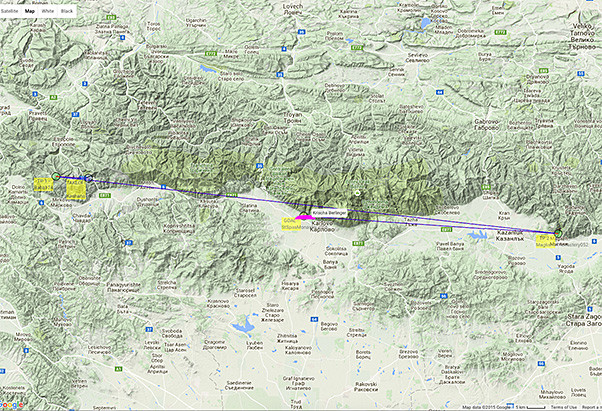 Trans Balkans route 2015 from Livetrack24