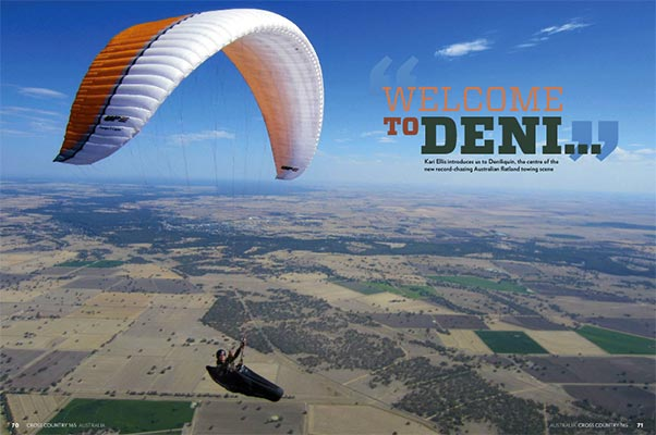 Paragliding in Deniliquin