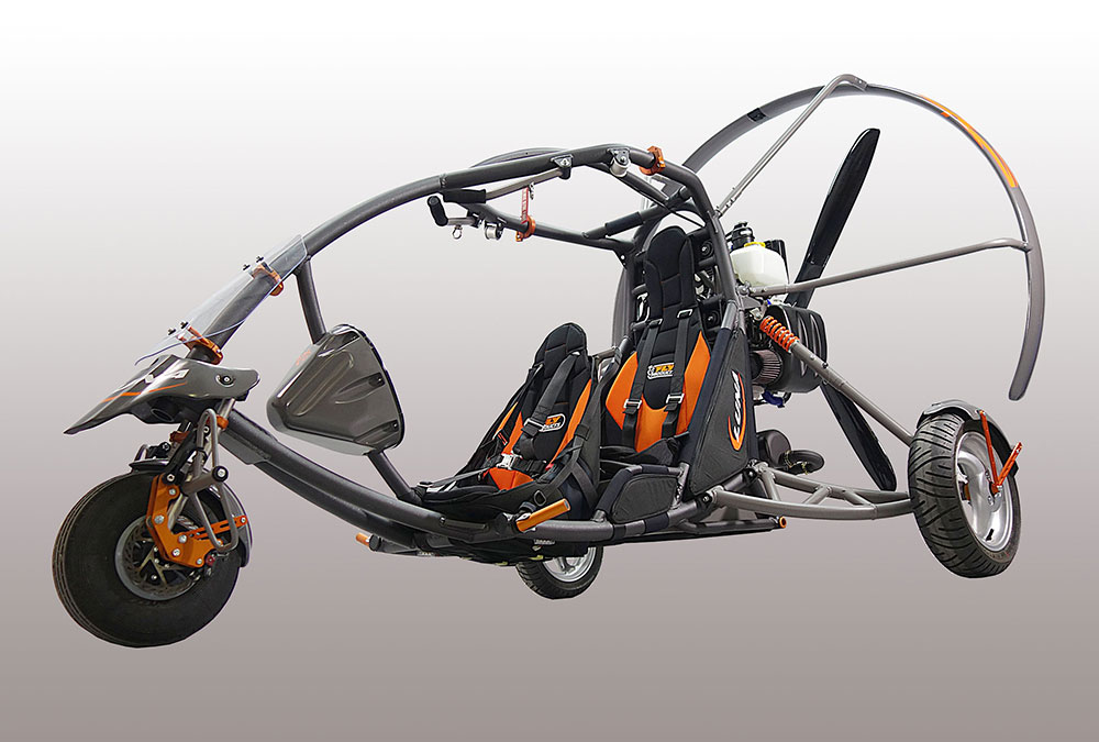 Fly Products' Luna two-seater trike   Cross Country Magazine