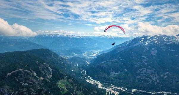 Ben Jordan paragliding in Canada