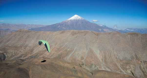 Paragliding in Iran. Photo: Nick Greece