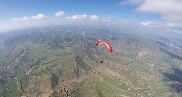 Paragliding in Mongolia