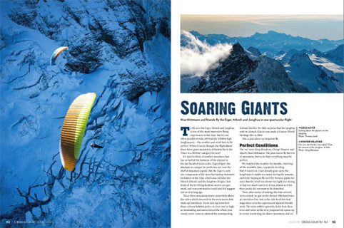 Paragliding the Eiger