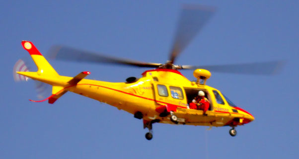 Italian search-and-rescue helicopter