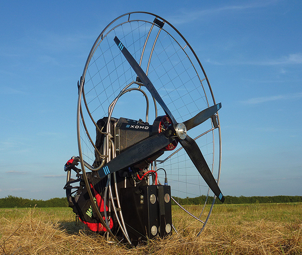 Exomo electric power unit for paragliders | Cross Country