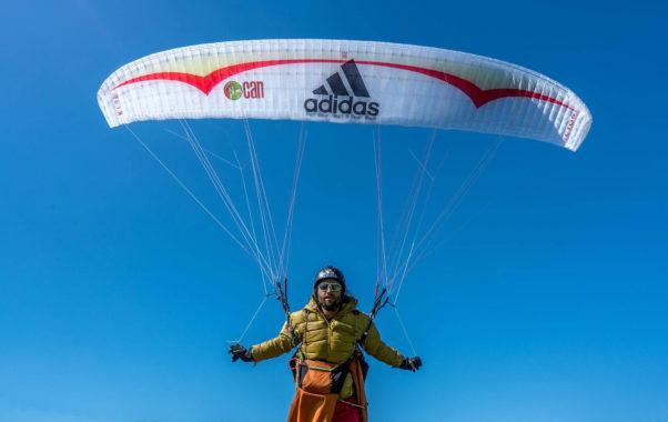Antoine Girard ready to fly before he headed to Pakistan. Photo: Antoine Girard / Facebook
