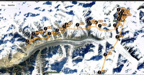 Flying the Baltoro Glacier. Image: SPOT / Antoine Girard