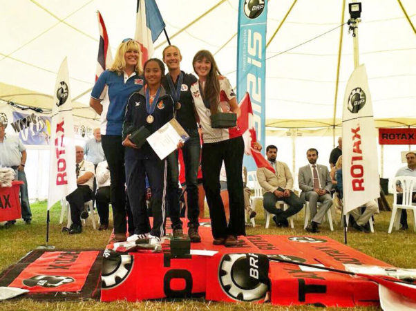 Women's podium at the FAI World Paramotoring Championships 2016. Photo: Rasat Fai Thailand / Facebook