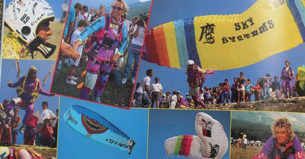 Paragliding in 1991
