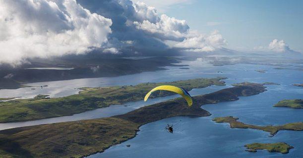 Paramotoring in Shetland