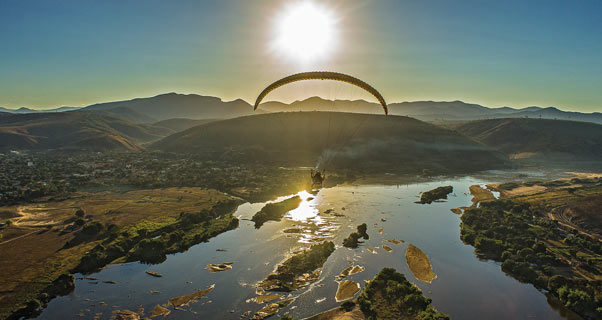 Paramotoring on the Rio Doceq
