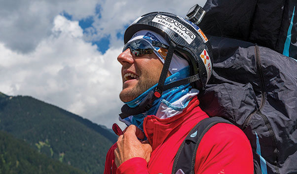 Chrigel Maurer at the Disentis Paragliding Open 2016. Photo: Andy Busslinger