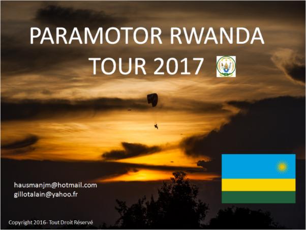 Rwanda paramotor tour 2017