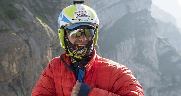 Gavin McClurg (USA1) prepares for flight during Red Bull X-Alps on Mangart, Slovenia on July 5, 2017