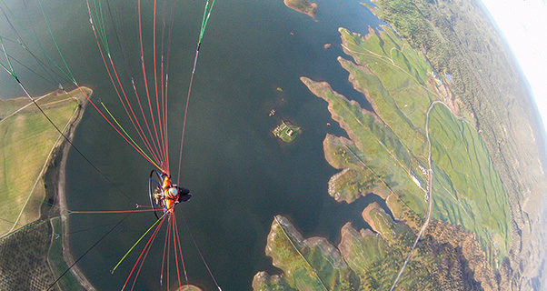 Paramotoring and spiral dives