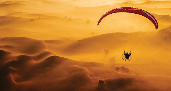 Paramotoring in Dubai, by Brooke Whatnall
