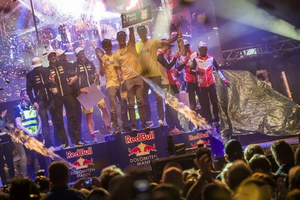 Red Bull Dolomitenmann 2017 podium