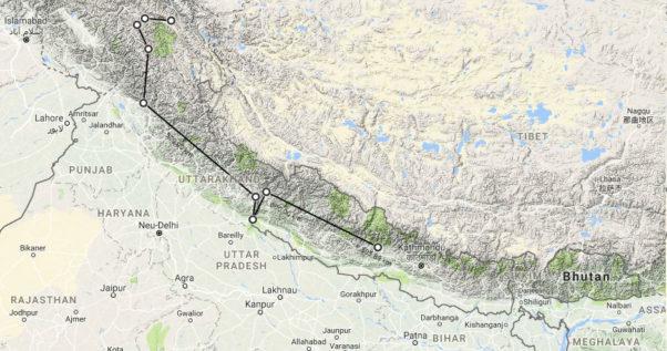 Himalayan traverse