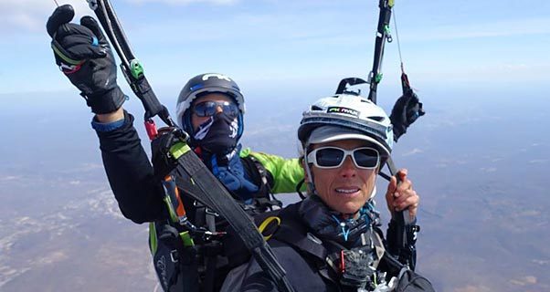 Julien Irilli's 340km tandem record flight